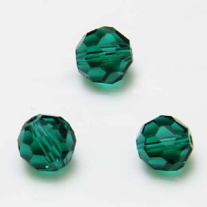 Beads, Selenial Crystal, Crystal, Dark teal , Faceted Rounds, Diameter 8mm, 10 Beads, [ZZC133]
